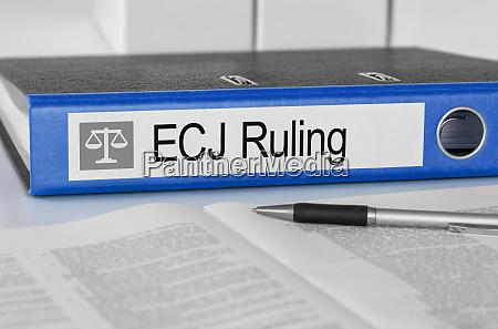 ordner mit dem label eucj ruling