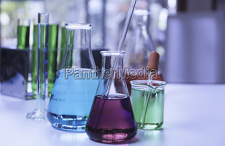glass laboratory chemical test tubes with