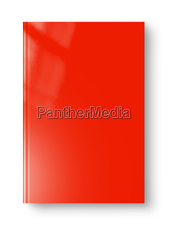 closed red blank book isolated on