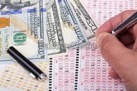 lottoscheine mit us dollar