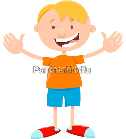 funny boy character cartoon illustration