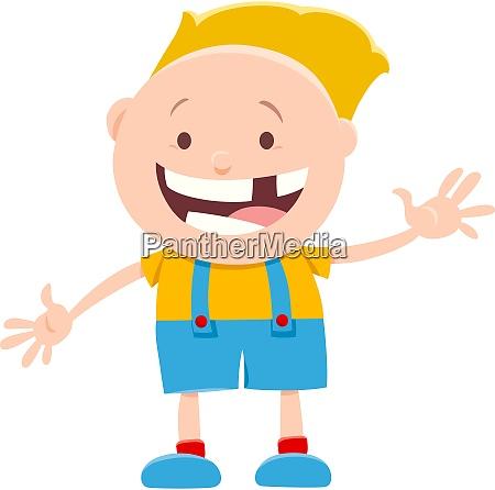 happy little boy character cartoon illustration