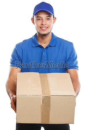 parcel delivery service box package order