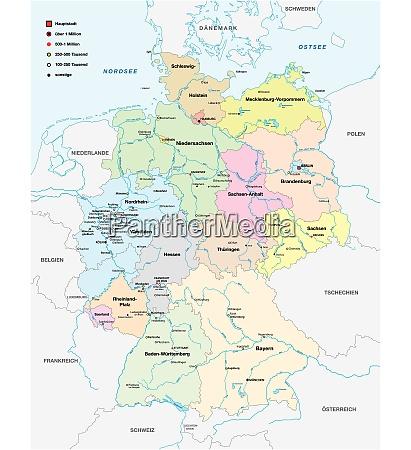 karte von deutschland mit allen staedten