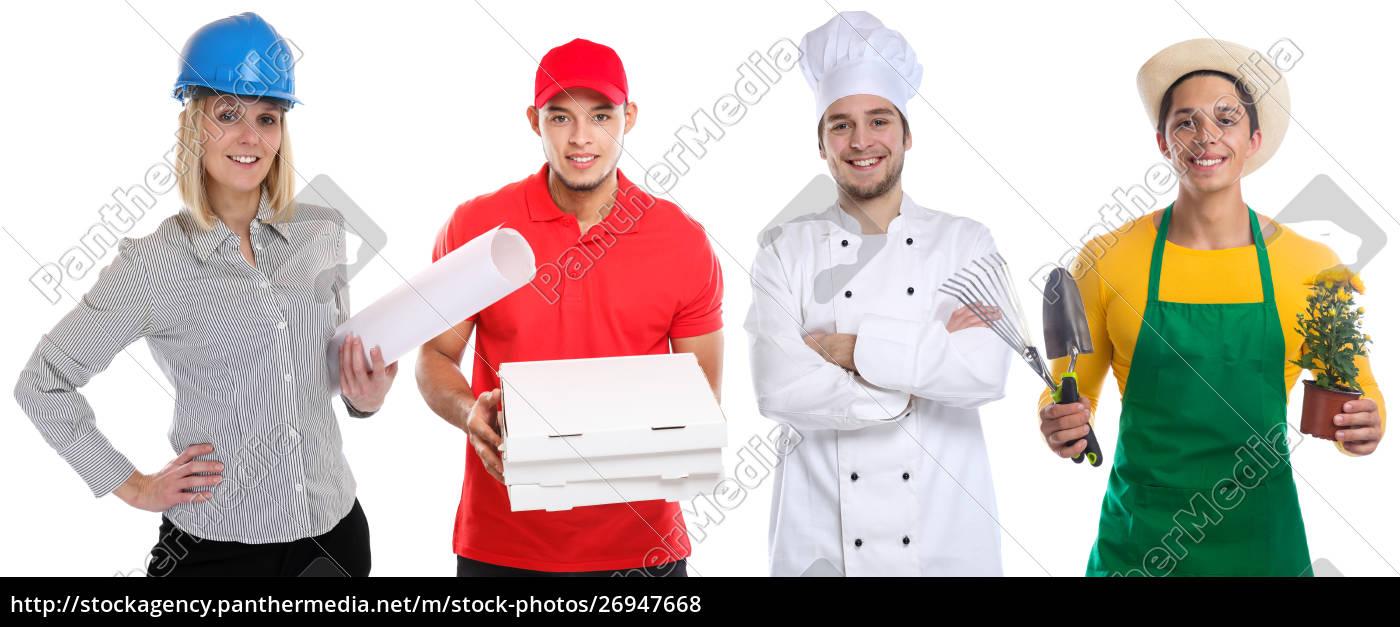 ausbildungsberuf, junge, menschen, berufe, betriebskarriere, isoliert - 26947668