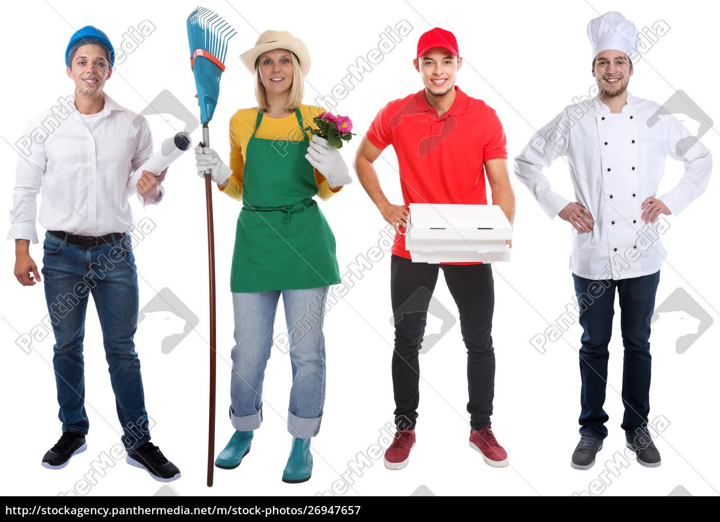ausbildungsberuf, junge, menschen, berufe, business, vollkörper-porträt - 26947657
