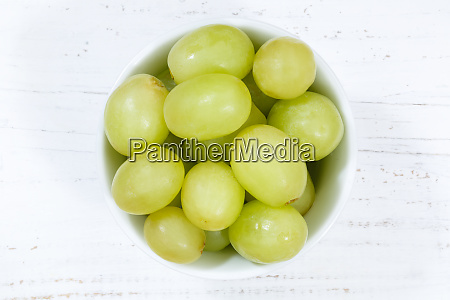 grapes green fruits fruit from above