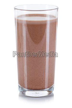 fresh chocolate drink milk glass isolated