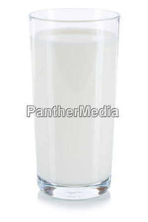 fresh milk glass isolated on white