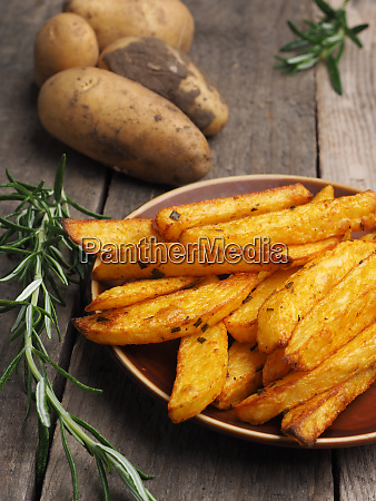 homemade fries with rosemary