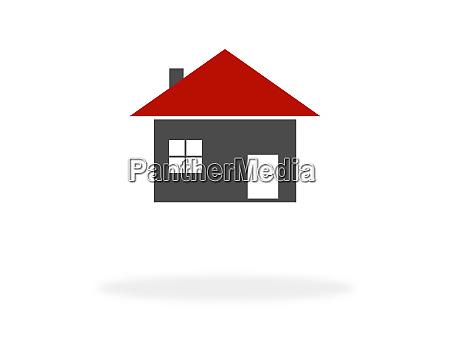 haussymbol fuer immobilien oder haus