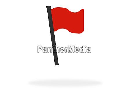 flag symbol fuer standort oder ereignis