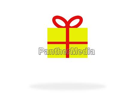geschenk box symbol fuer weihnachten oder