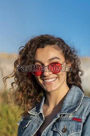 portrait of happy young woman with