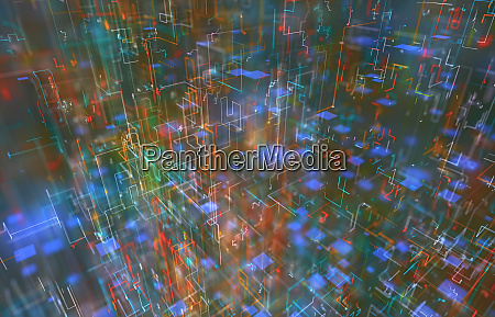 abstract background geometric connections