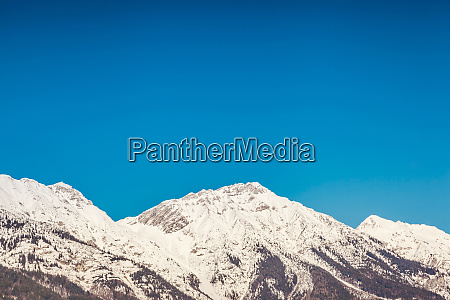 austria tyrol snow capped alps near