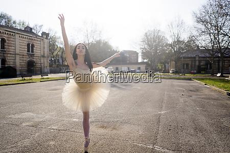 italy verona ballerina dancing in the