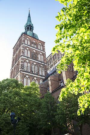 deutschland mecklenburg vorpommern stralsund altstadt nikolaikirche