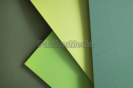 green set of paper as an