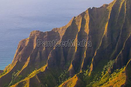 usa hawaii kauai kalalau lookout over