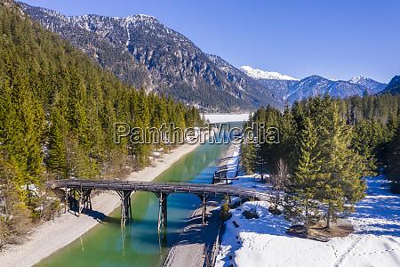 austria tyrol ammergau alps heiterwanger see