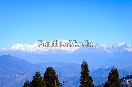 view of himalaya the kanchenjunga mountain