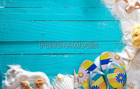summer background on wood
