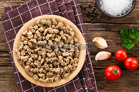 raw dehydrated soy meat