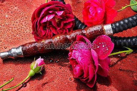 orientalische hookah mit rosenduft