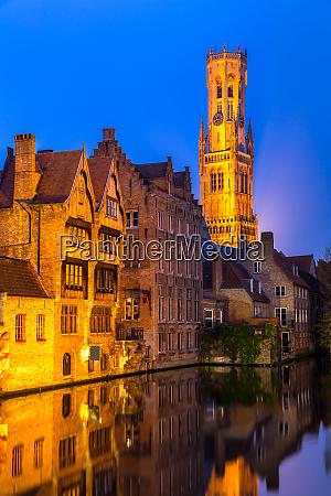 bruges belgium sunset