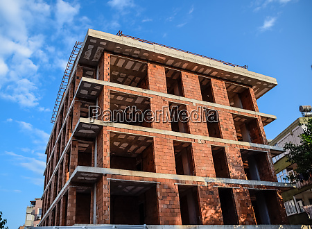 construction of a new house of