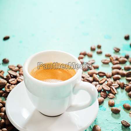 generic white cup of frothy espresso