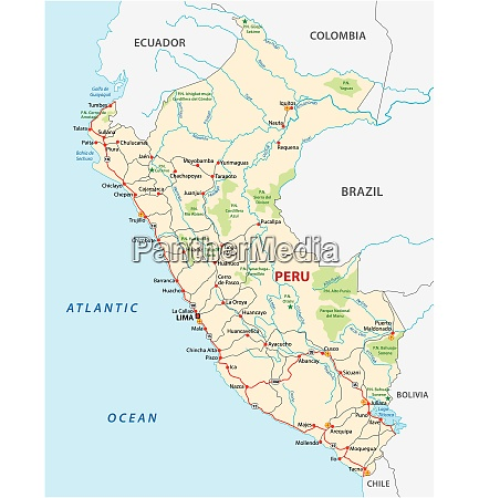 karte der republik peru