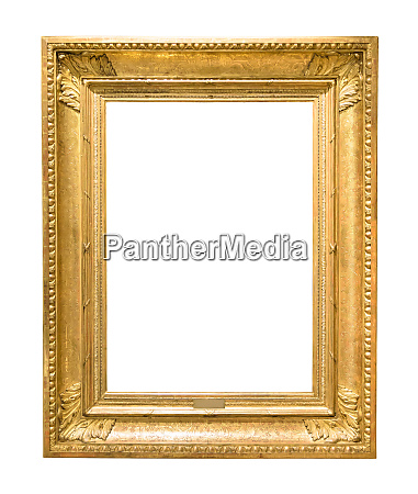 gold decorative picture frame isolated on