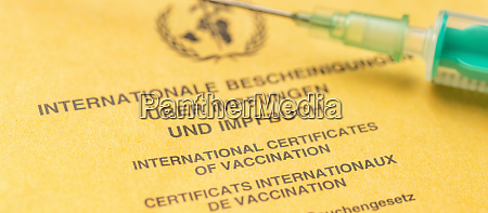 ein internationales impfzertifikat
