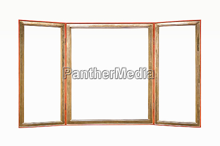 triple wooden picture frame