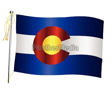 colorado state schwenken flagge und fahnenmast