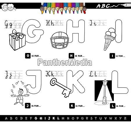 educational cartoon alphabet color book