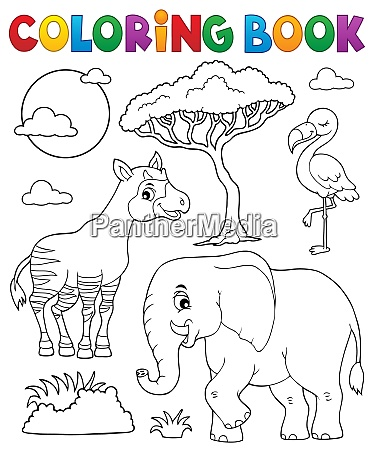coloring book african nature topic 6
