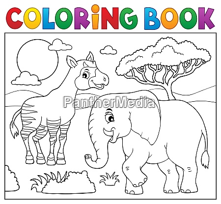 coloring book african nature topic 7