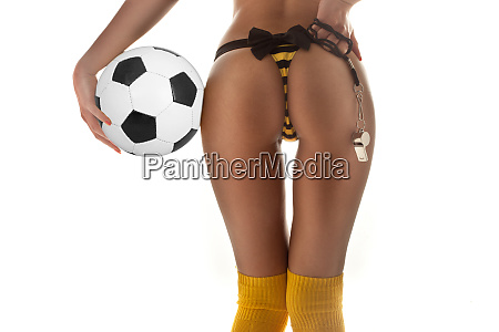 sexy female soccer player