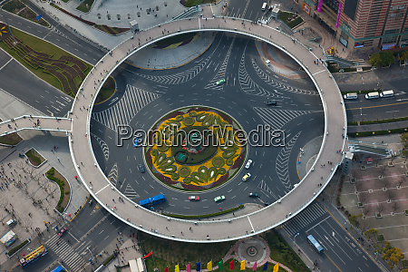 the lujiazui traffic circle with an