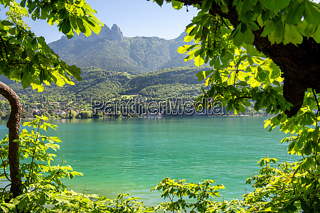 view of lake of annecy french