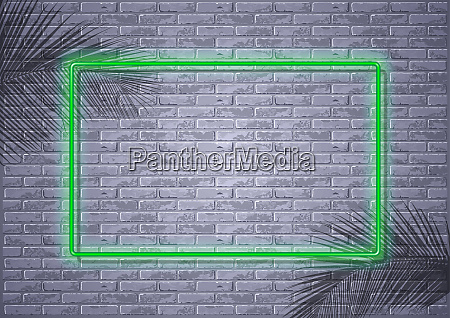 neon light on brick wall and