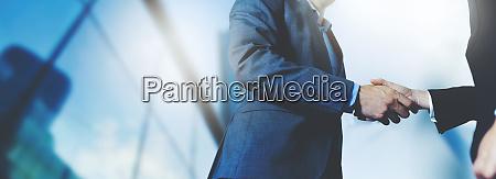 businessmen handshake business meeting and