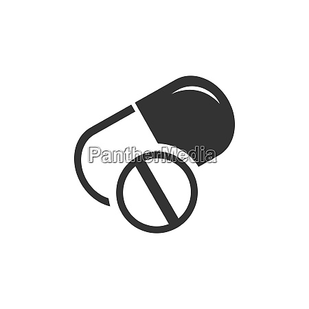 pills icon isolated vector illustration