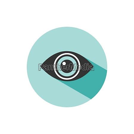body senses vision eye icon with