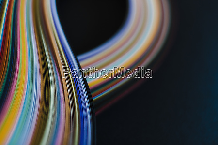 abstract rainbow paper wave pattern on