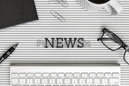 formular ueber news text auf dem