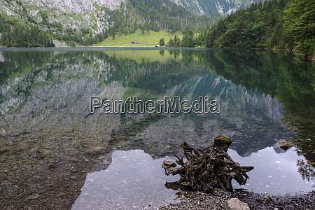 germany bavaria berchtesgaden alps lake obersee